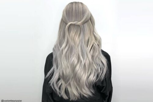 Silver blonde hair colors